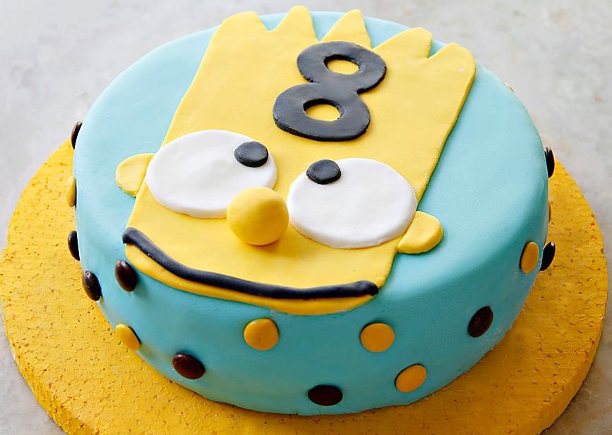 Cakes and Co. » Party Planning & Styling » Torta Bart Simpson