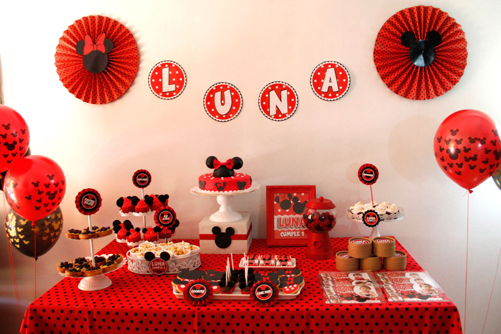 Decoraciones de miny mickey mouse minnie mouse birthday for Decoracion minnie mouse